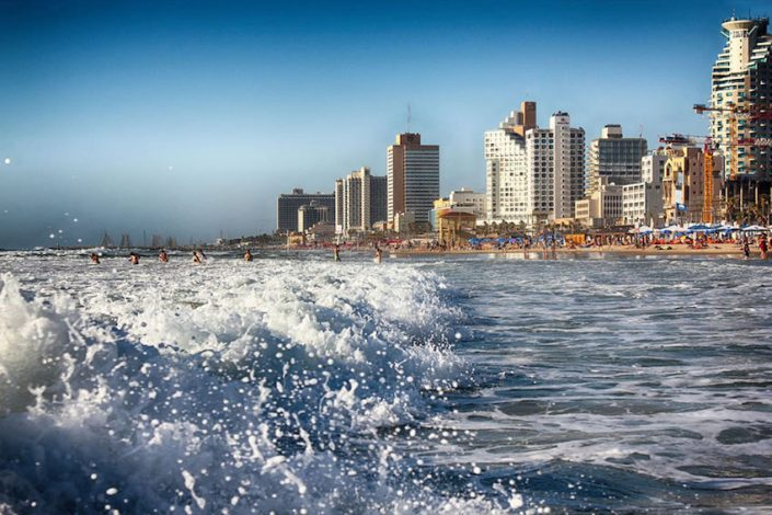 Tel Aviv Promenade von der Meerseite
