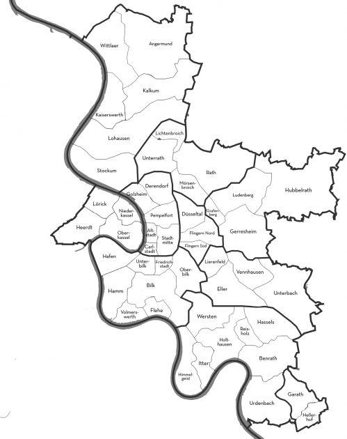 Bezirke Düsseldorf