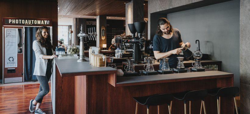 me and all hotel Düsseldorf | Lieblingsladen | Café im Erdgeschoss | Mr. Düsseldorf