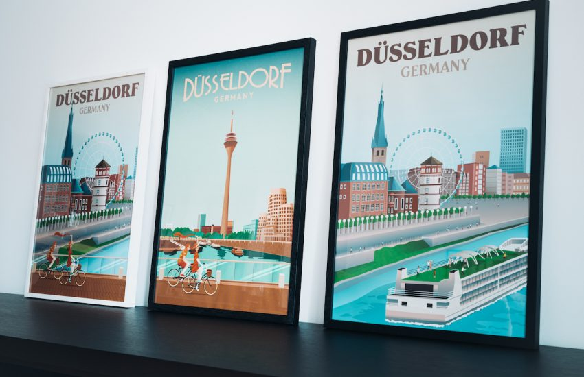 Düsseldorf Poster - alle 3 Motive (v. l. n. r. Motiv 2, Motiv 1, Motiv 3)