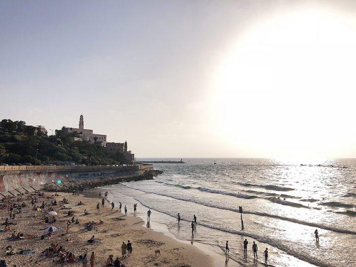 Blick auf Old Jaffa von der Promenade
