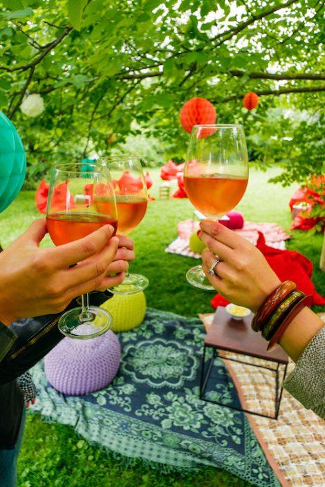 Picknick mit Rosé