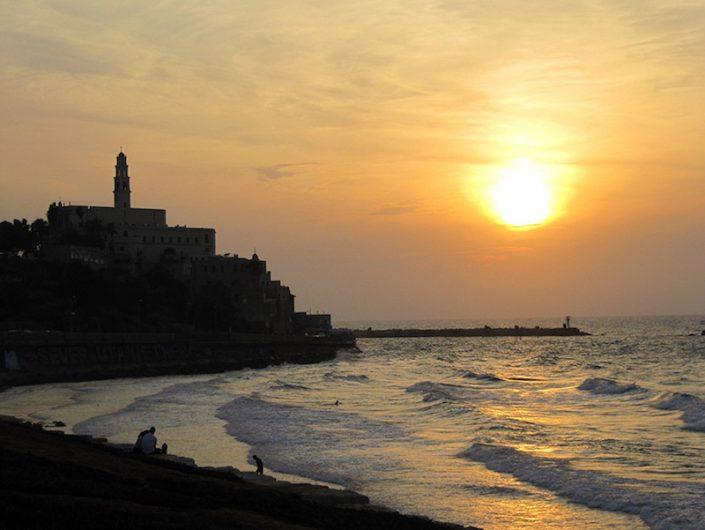 Sonnenuntergang über Tel Aviv
