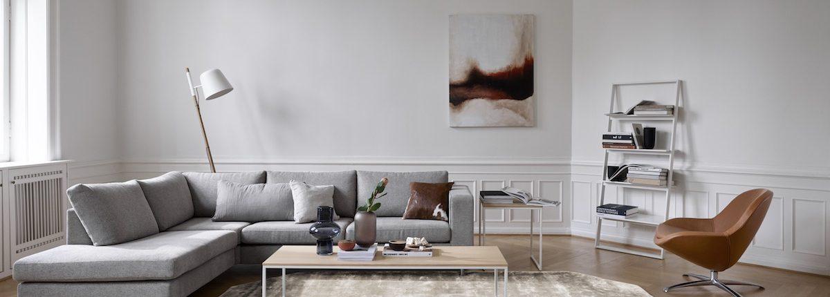 BoConcept Düsseldorf | Wohnzimmer mit grauem Sofa | Lieblingsladen | Mr. Düsseldorf
