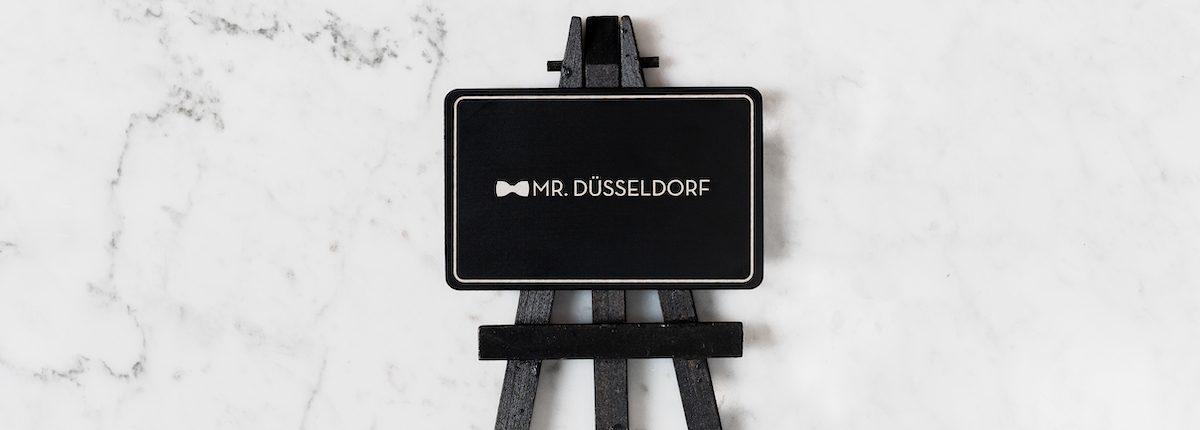 Mr. Düsseldorf Karte Staffelei