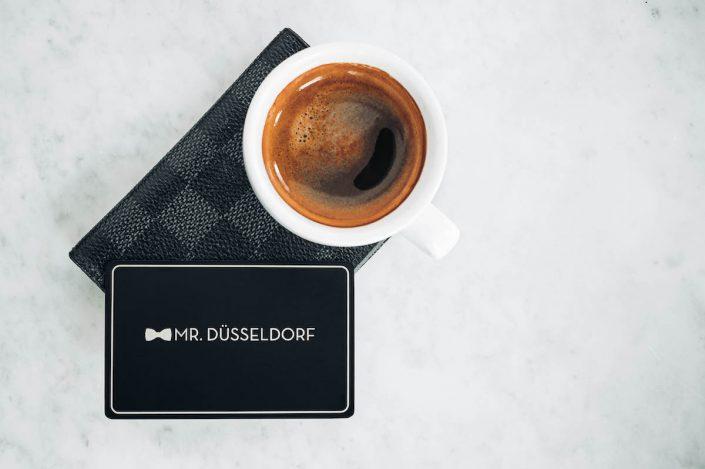 Mr. Düsseldorf Karte Brieftasche Espresso