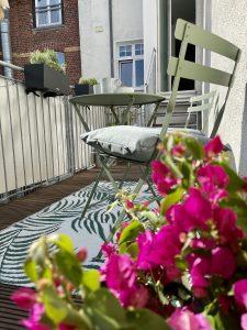 Pflanzen auf unserem großen, sonnigen Balkon zum Innenhof | 8 Tipps für euren grüneren Balkon mit Bogie's | Mr. Düsseldorf 2021