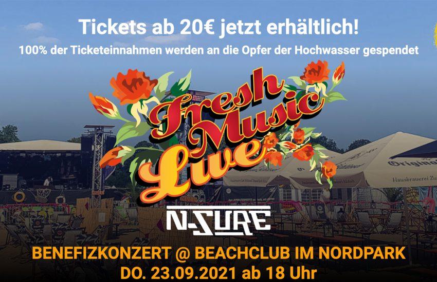 Fresh Music Live Benefizkonzert @ Beachclub im Nordpark | Mr. Düsseldorf |Düsseldates |Foto: PR KONSTANT